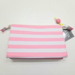 Ulta Beauty Pink & White Stripe Makeup Bag